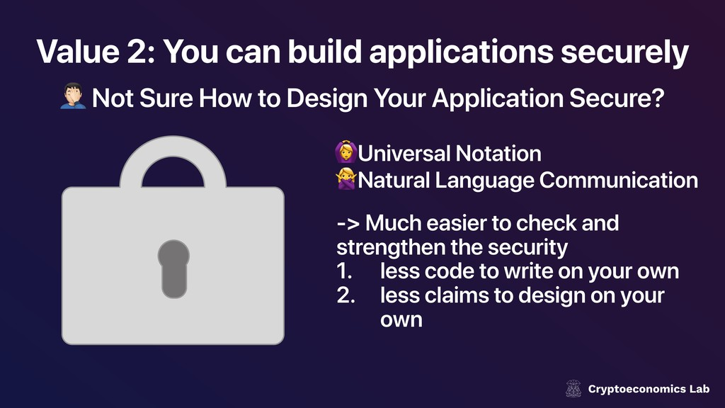 Value 2: You can build applications securely ! ...