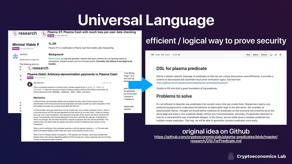 Universal Language original idea on Github http...