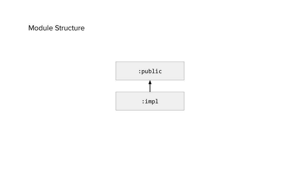 Module Structure :public :impl