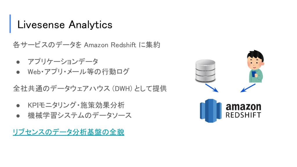 Livesense Analytics 各サービスのデータを Amazon Redshift ...