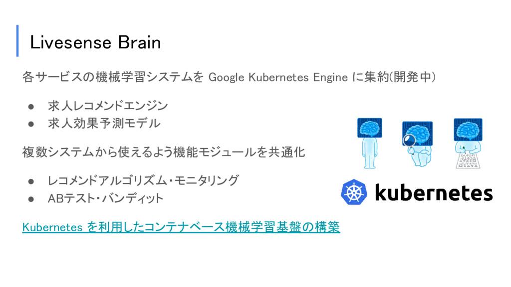 Livesense Brain 各サービスの機械学習システムを Google Kubernet...