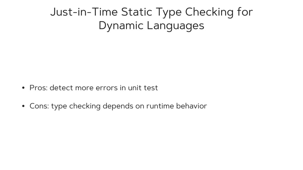 Just-in-Time Static Type Checking for