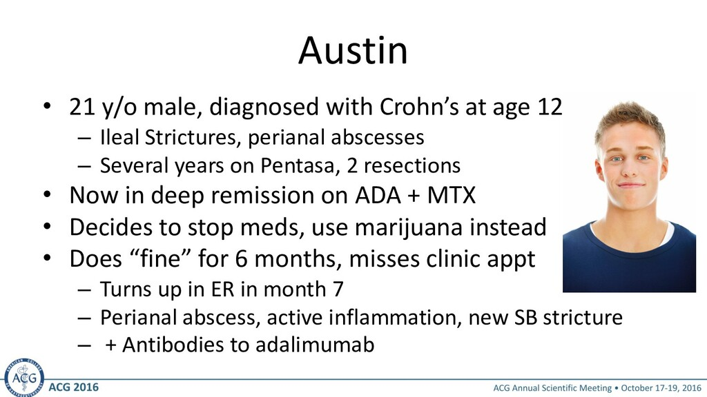 Austin • 21 y/o male, diagnosed with Crohn's at...