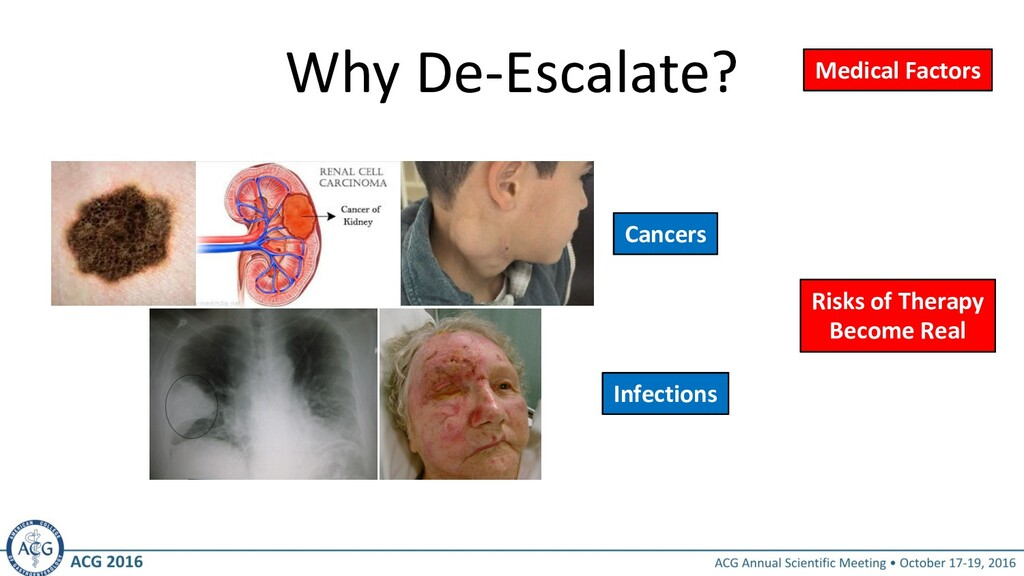 Why De-Escalate? Medical Factors Cancers Infect...