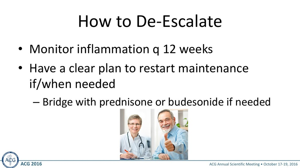 How to De-Escalate • Monitor inflammation q 12 ...