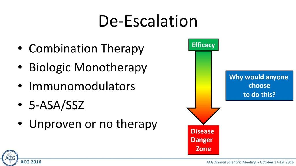 De-Escalation • Combination Therapy • Biologic ...