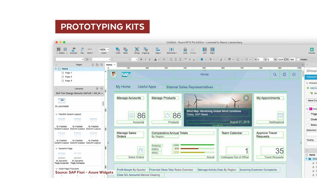 PROTOTYPING KITS  Source: SAP Fiori – Axure W...
