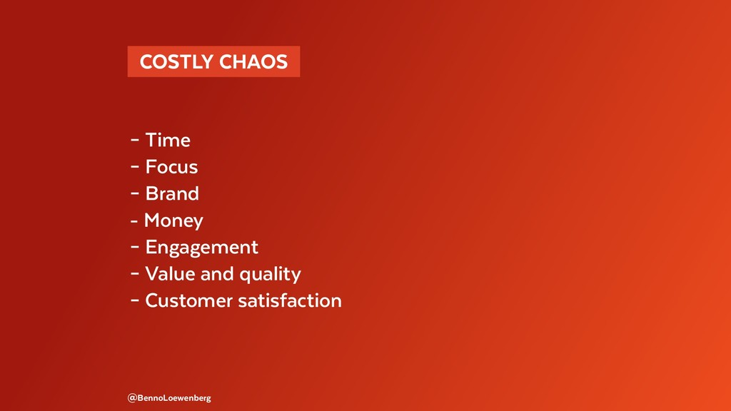 COSTLY CHAOS  – Time – Focus – Brand - Money ...