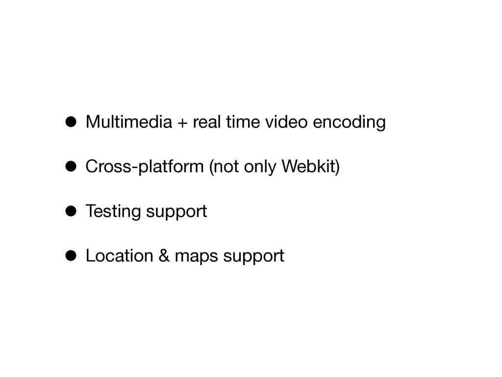 • Multimedia + real time video encoding • Cross...