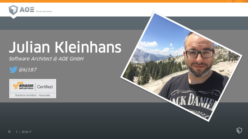 2 02.06.17 Julian Kleinhans Software Architect ...