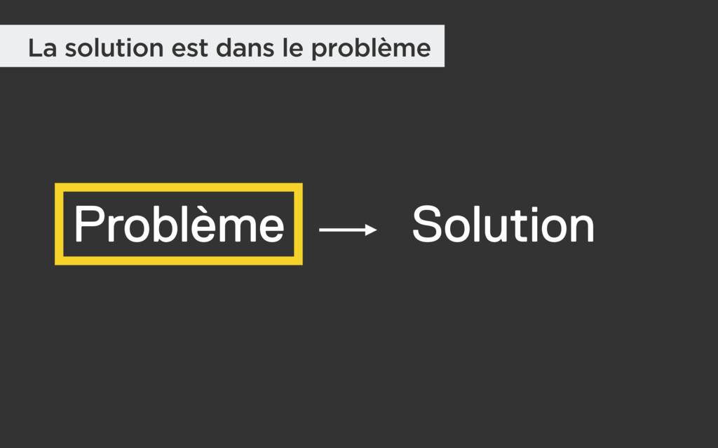 Problème Solution La solution est dans le probl...