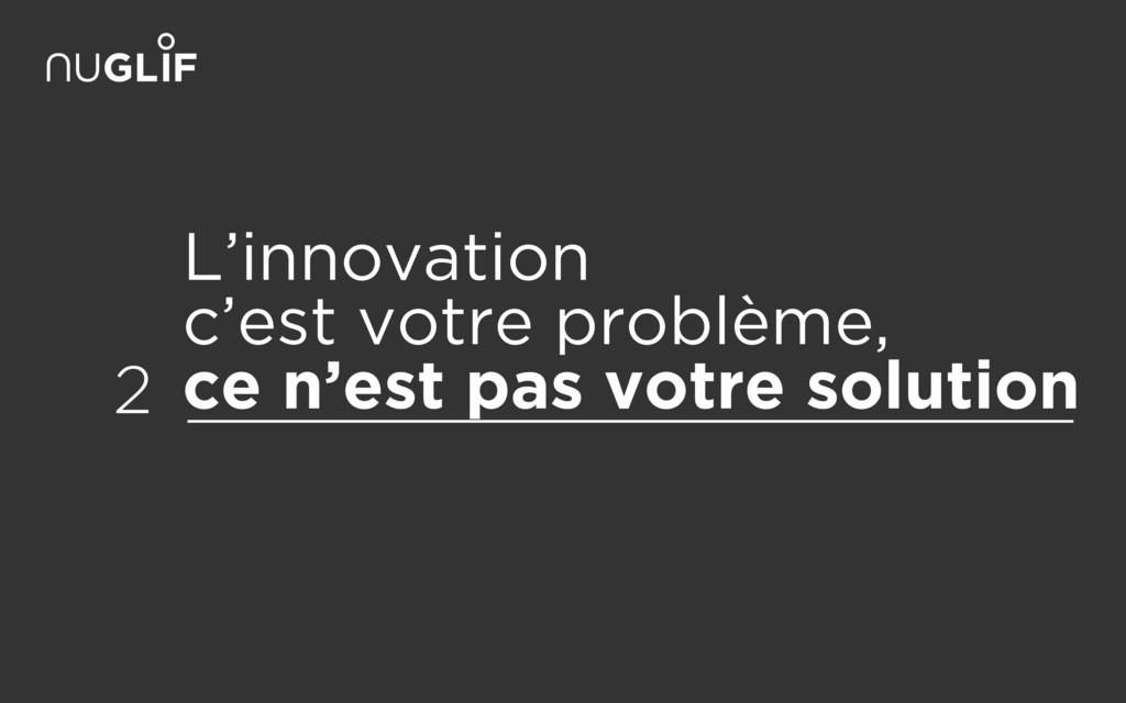 L'innovation c'est votre problème, ce n'est p...