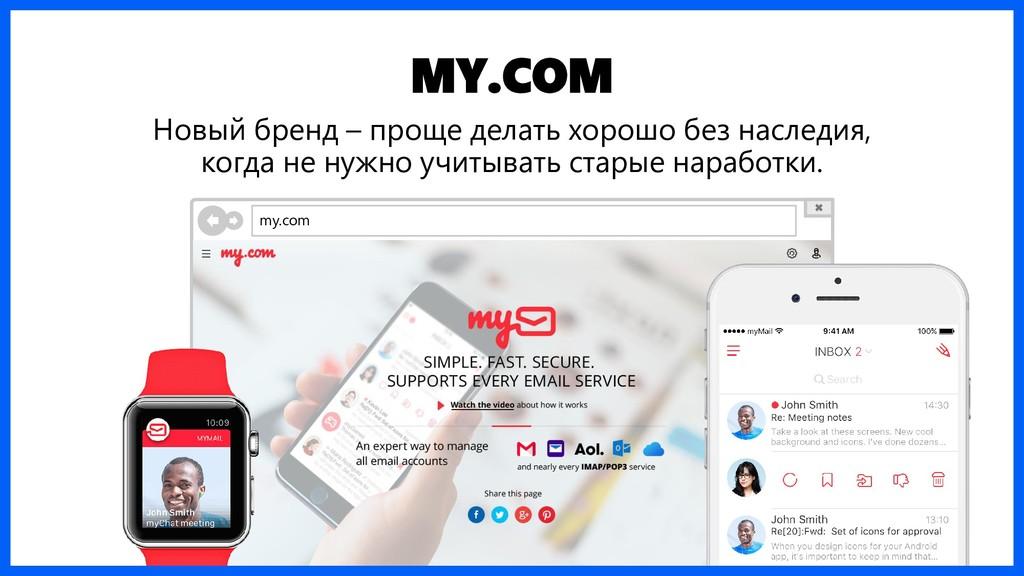 MY.COM Новый бренд – проще делать хорошо без на...