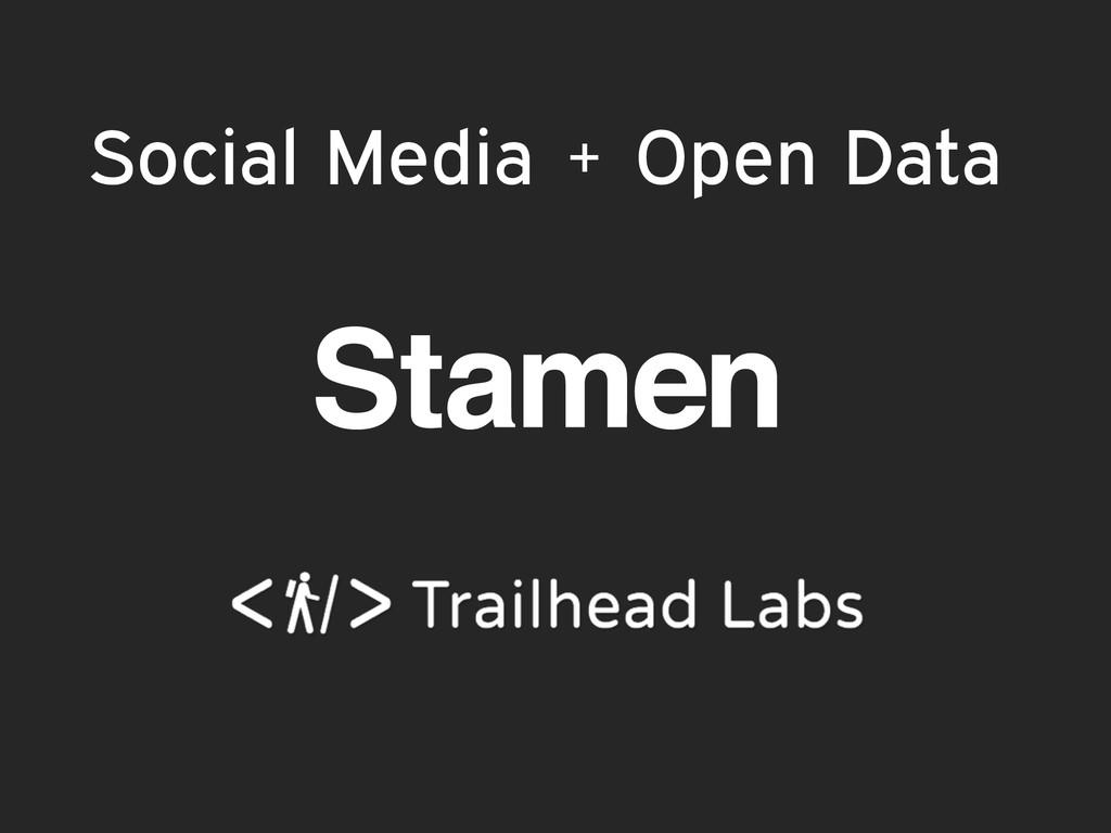 Social Media + Open Data