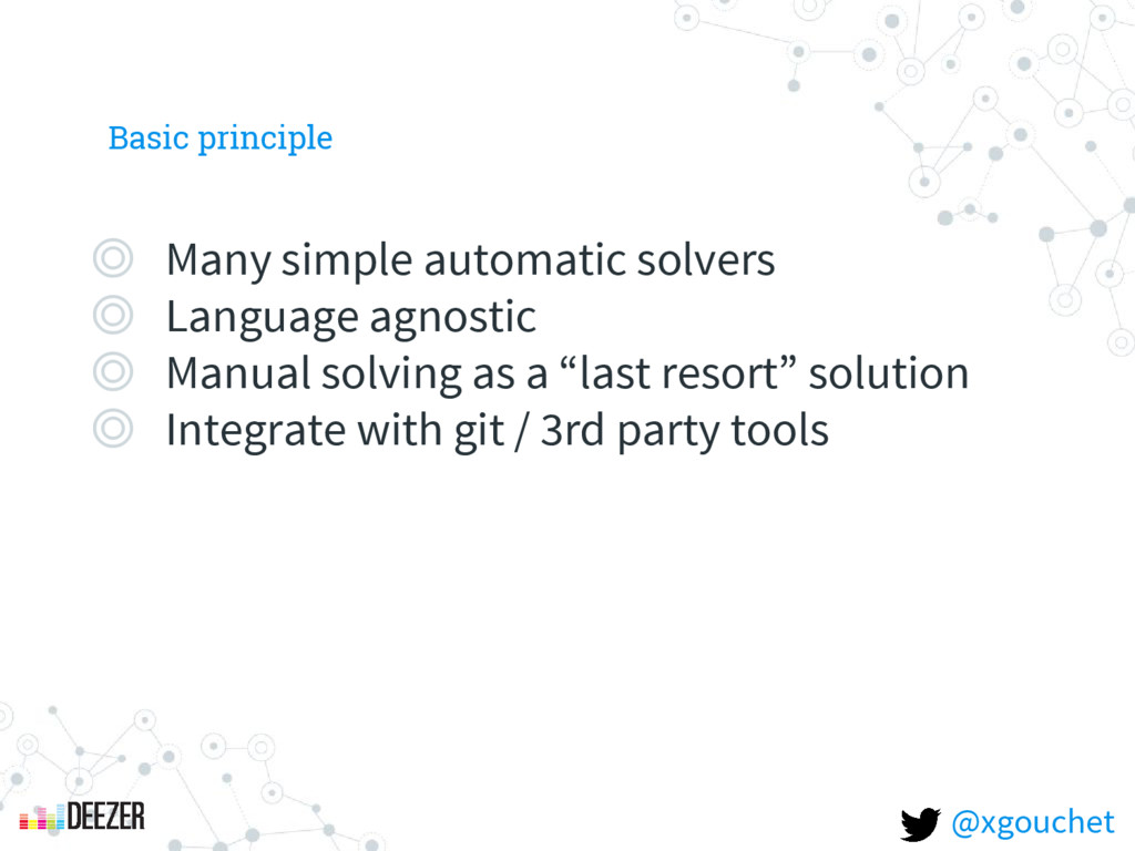 Basic principle ◎ Many simple automatic solvers...