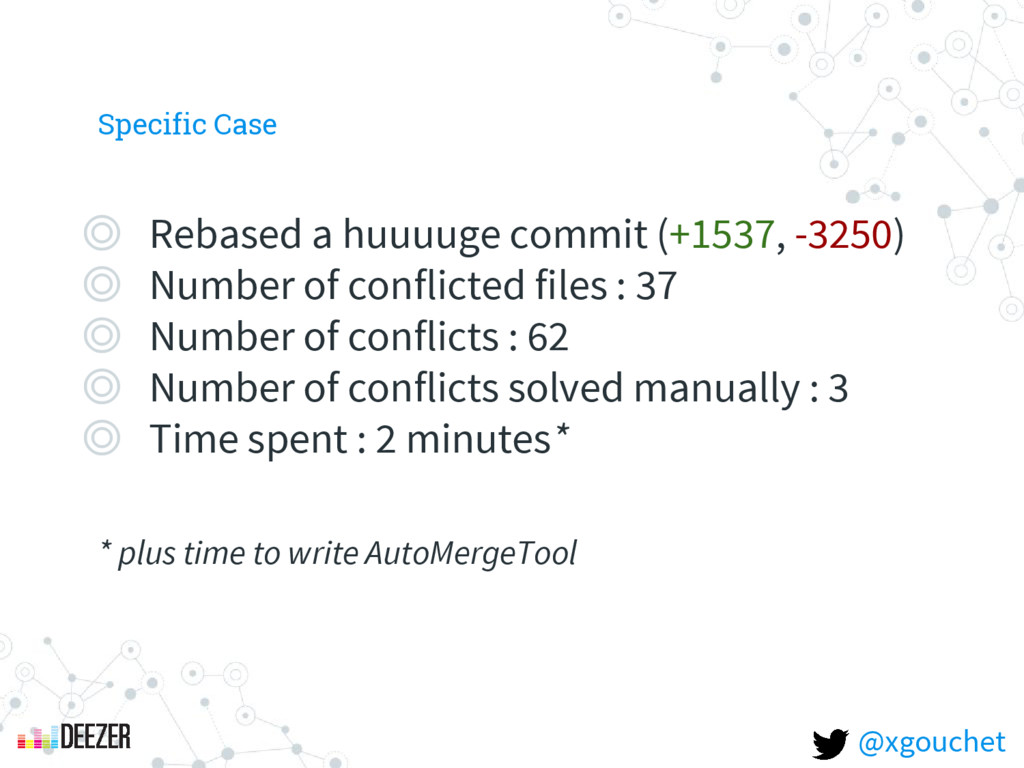 Specific Case ◎ Rebased a huuuuge commit (+1537...