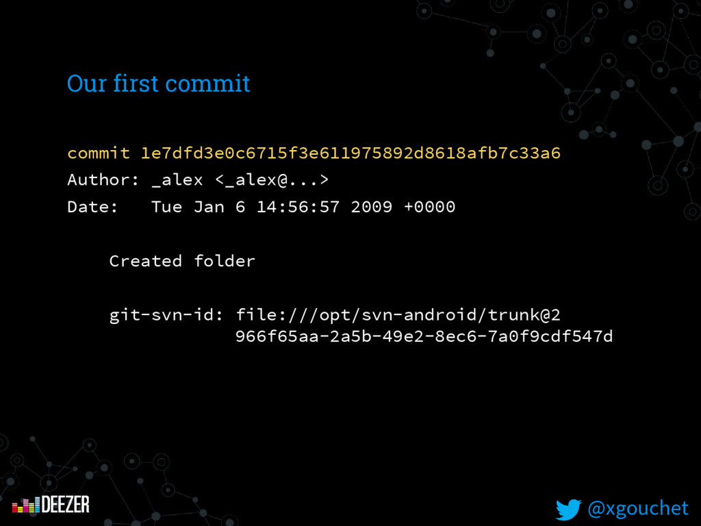 @xgouchet Our first commit commit 1e7dfd3e0c671...