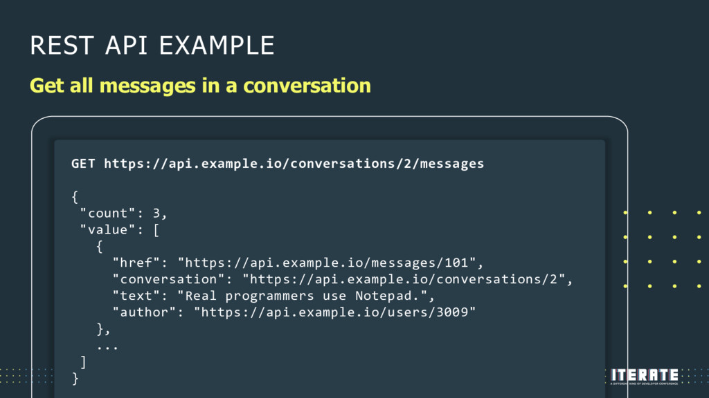 REST API EXAMPLE Get all messages in a conversa...