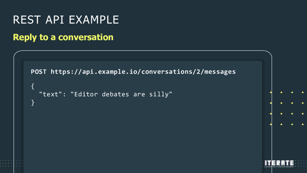 REST API EXAMPLE Reply to a conversation POST h...