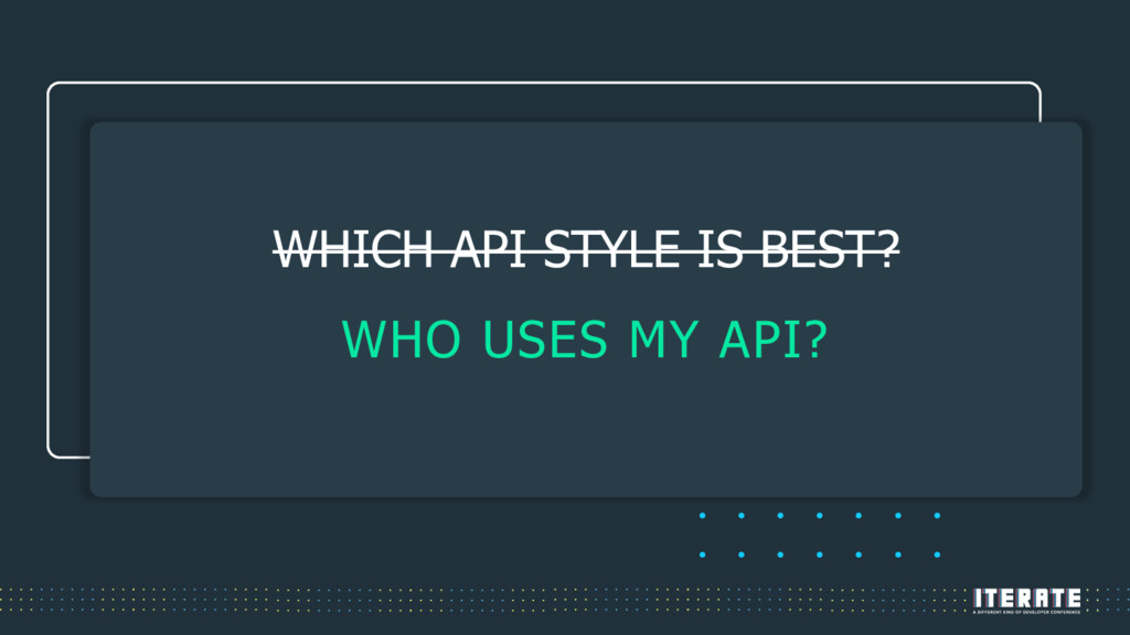 THE DEBATE IS STILL RAGING WHICH API STYLE IS B...
