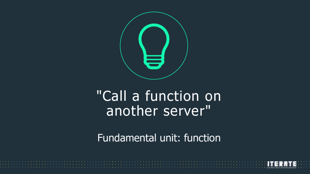 """""""Call a function on another server"""" Fundamental..."""