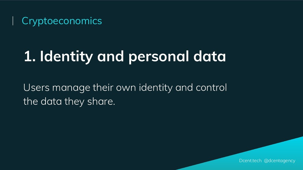 1. Identity and personal data Users manage thei...