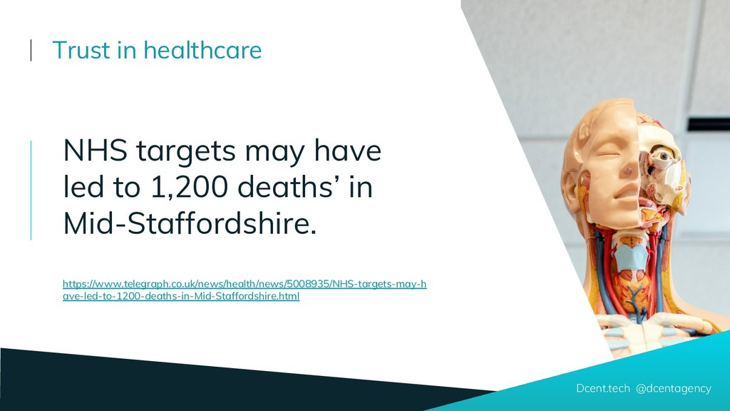 Dcent.tech @dcentagency Trust in healthcare NHS...