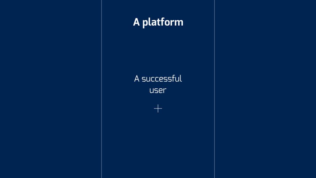 A platform A successful user