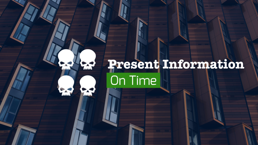 Present Information On Time