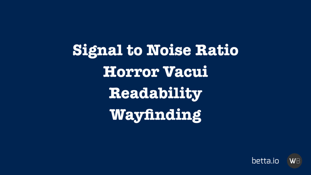 betta.io Signal to Noise Ratio Horror Vacui Rea...