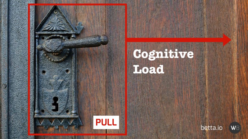 Cognitive Load PULL betta.io