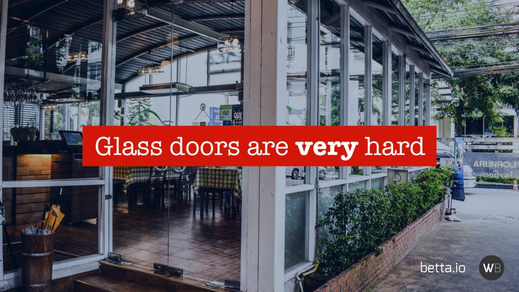 betta.io Glass doors are very hard