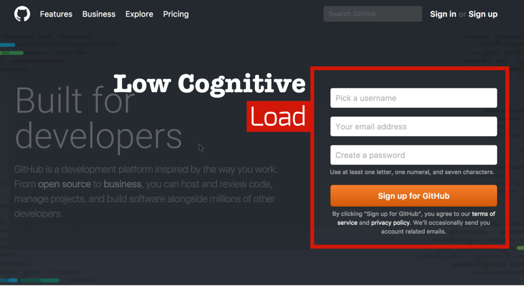 Low Cognitive Load