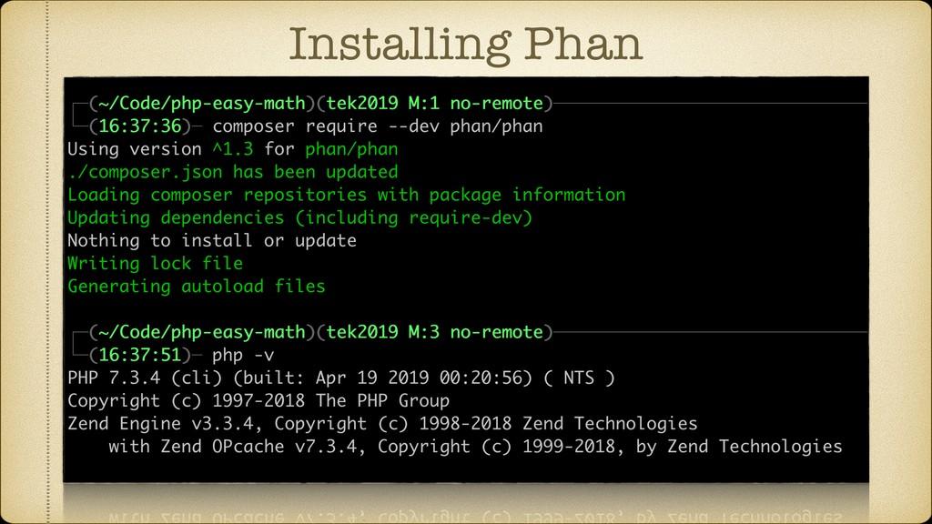 Installing Phan