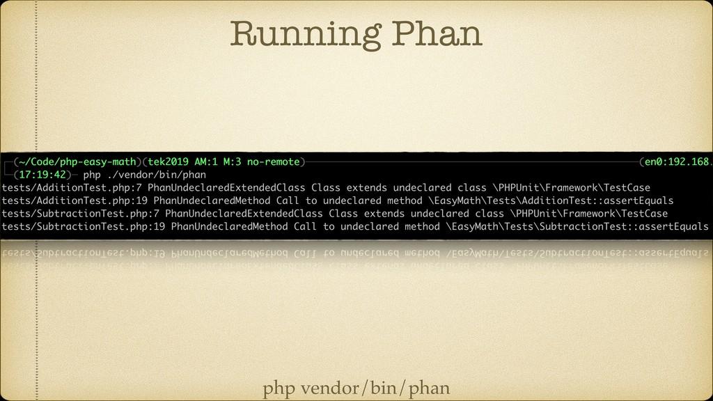 Running Phan php vendor/bin/phan