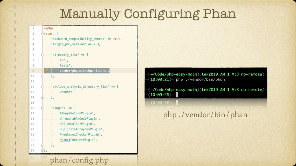 Manually Configuring Phan .phan/config.php php ....