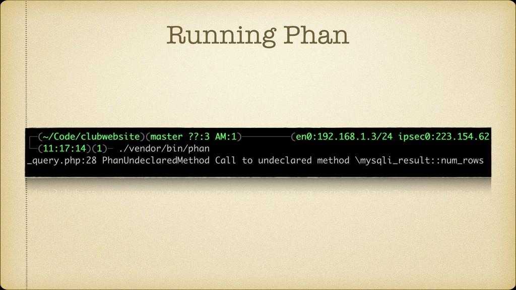 Running Phan