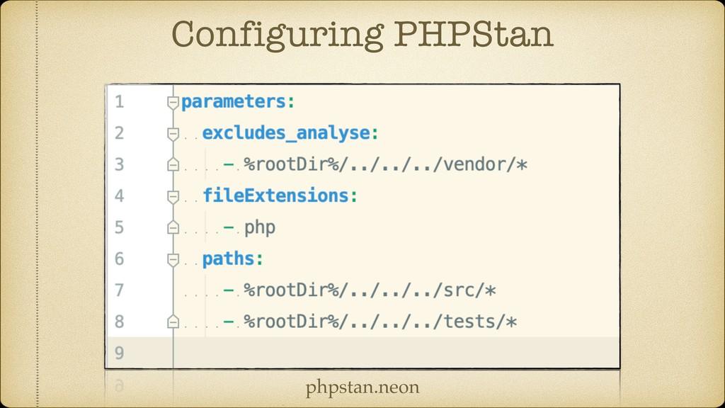 Configuring PHPStan phpstan.neon