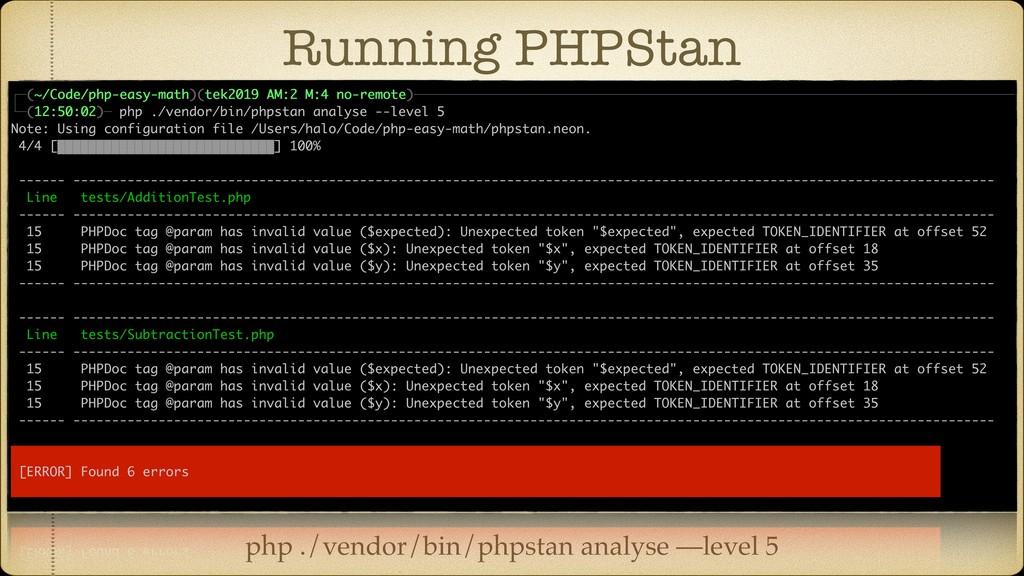 Running PHPStan php ./vendor/bin/phpstan analys...
