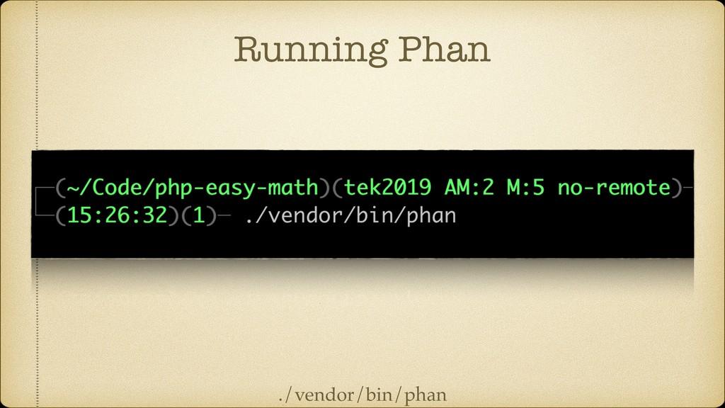 Running Phan ./vendor/bin/phan