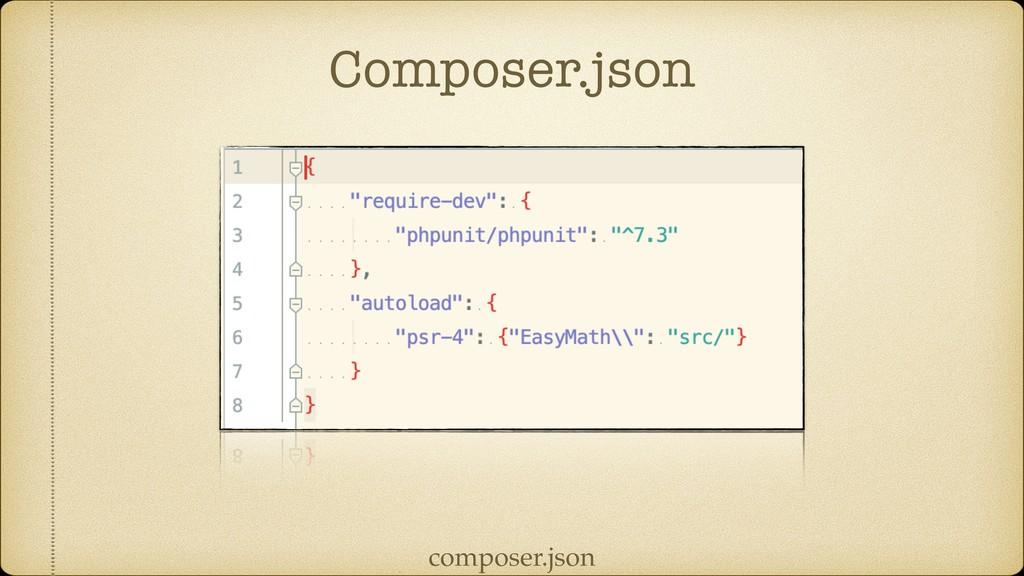 Composer.json composer.json