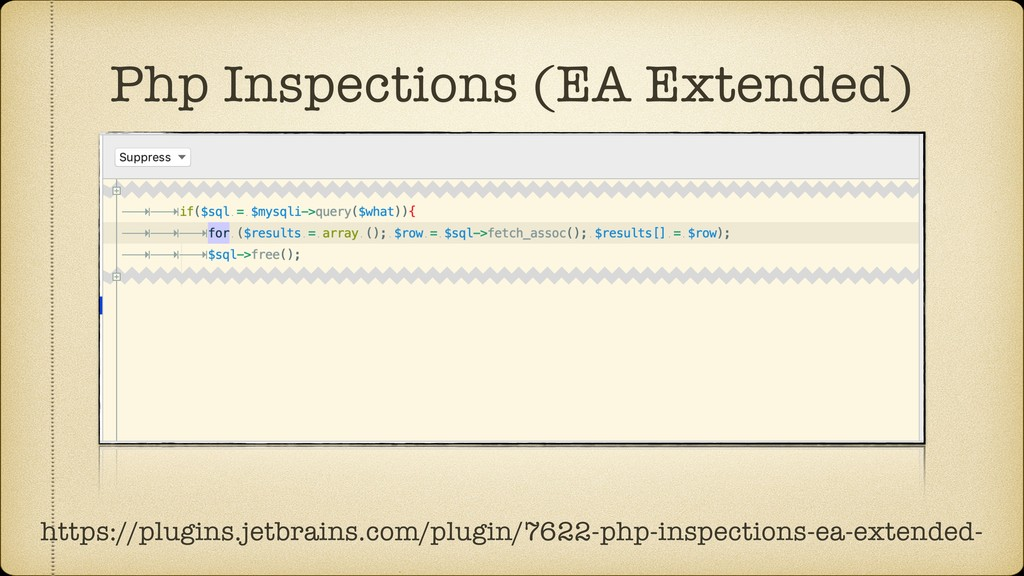 Php Inspections (EA Extended) https://plugins.j...