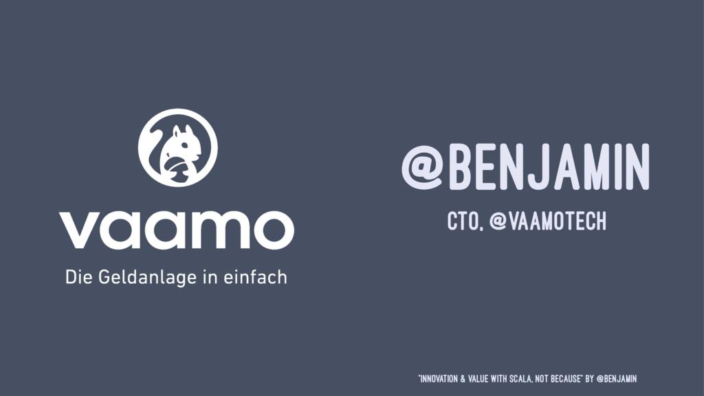 """@BENJAMIN CTO, @VAAMOTECH """"Innovation & Value w..."""