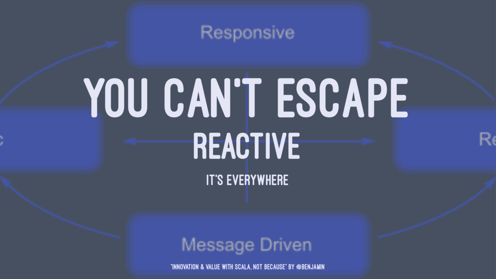 """YOU CAN'T ESCAPE REACTIVE IT'S EVERYWHERE """"Inno..."""