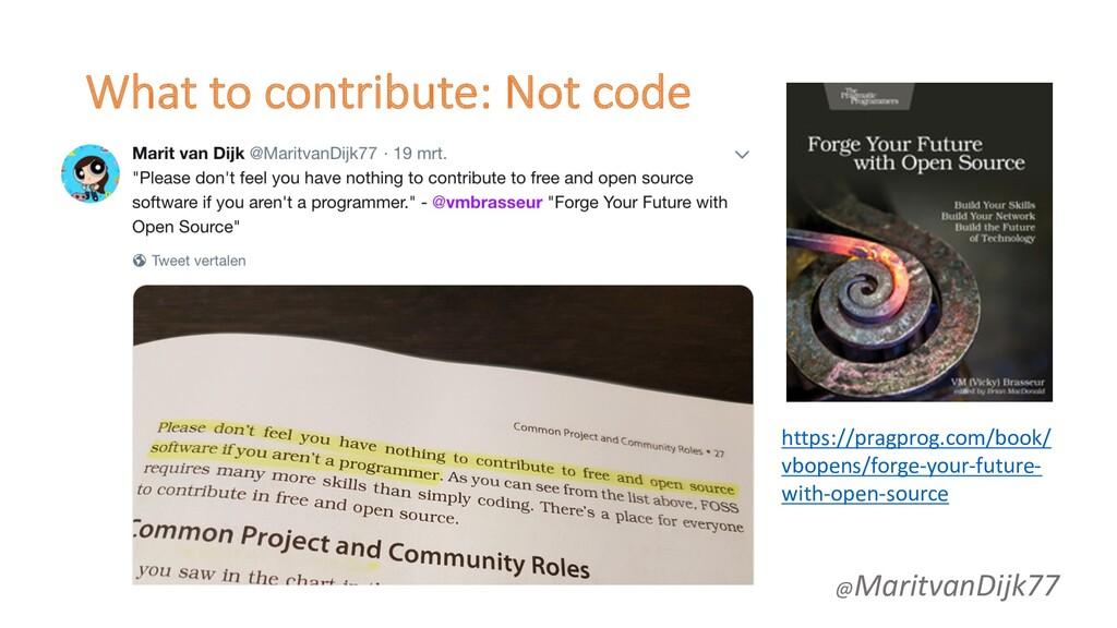 What to contribute: Not code @MaritvanDijk77 ht...