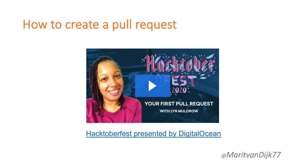 How to create a pull request Hacktoberfest pres...