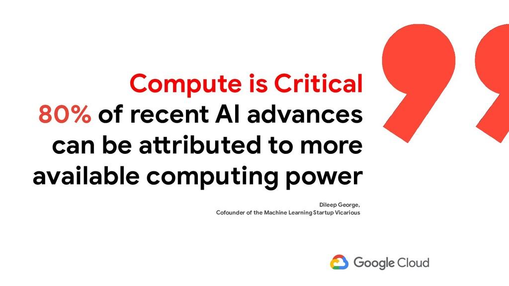 Compute is Critical 80% of recent AI advances c...