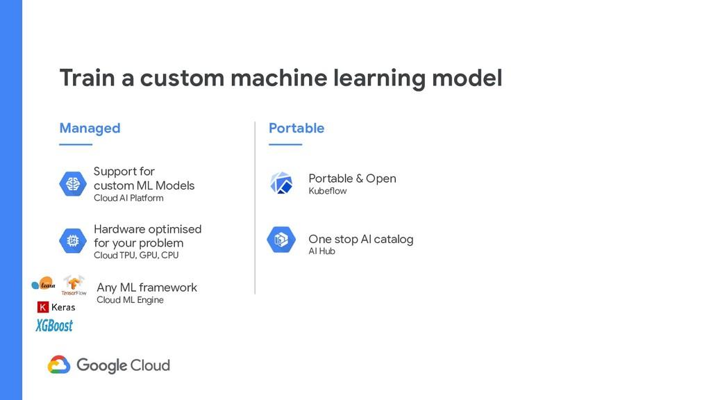 Train a custom machine learning model Support f...