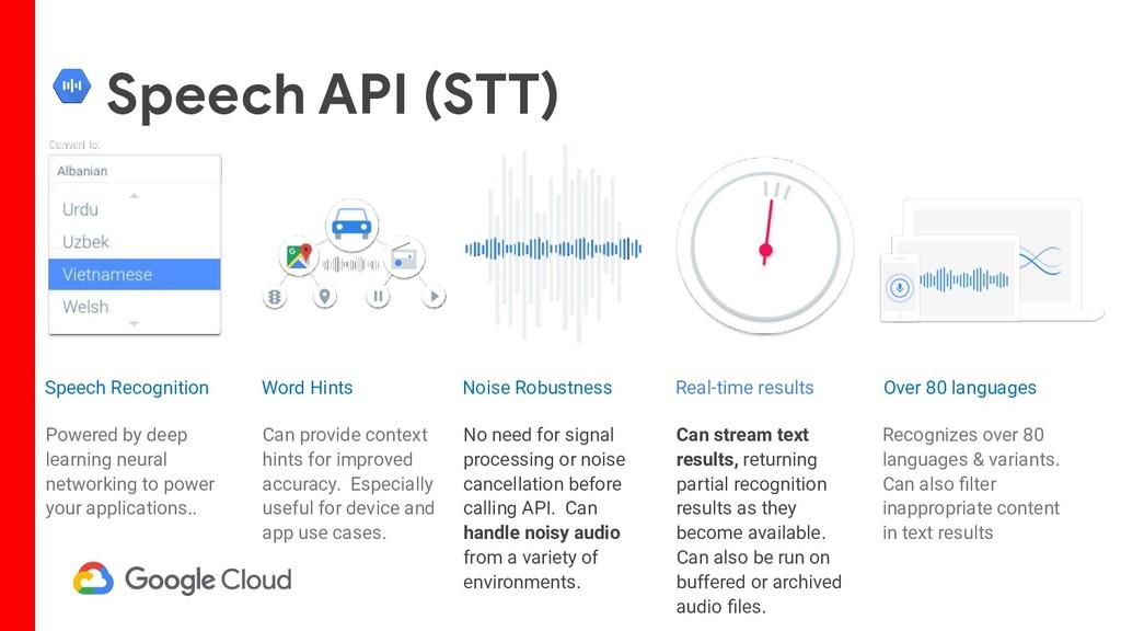 Speech API (STT) Powered by deep learning neura...
