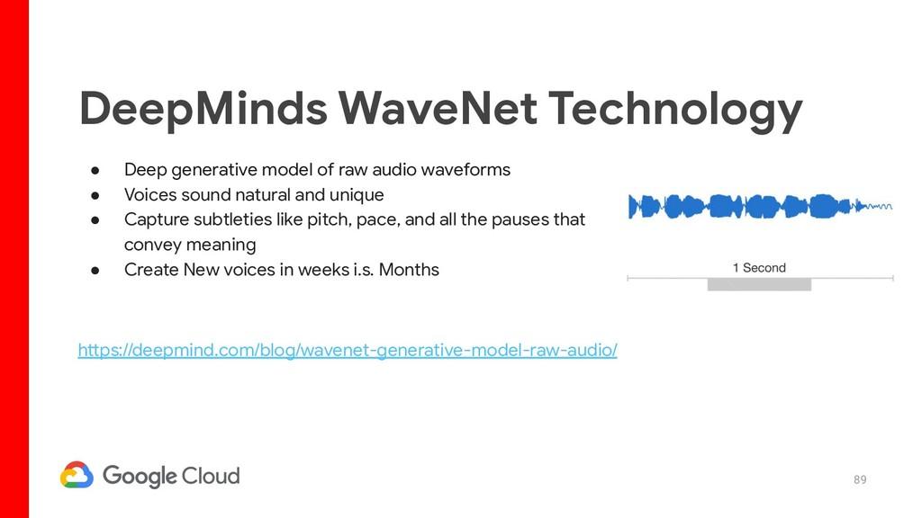 89 ● Deep generative model of raw audio wavefor...